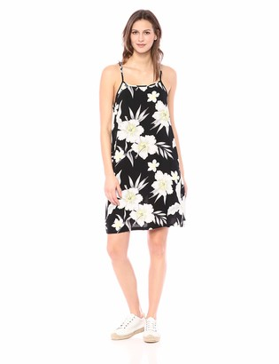 Private Label 28 Palms Tropical Hawaiian Print Halter Shift Dress Casual