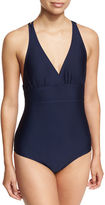 Athena Crisscross-Back One-Piece Swimsuit