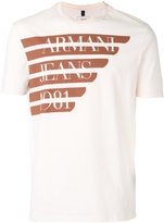 Armani Jeans logo print T-shirt - men - Cotton - M