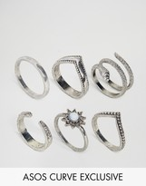 Asos Exclusive Pack of 6 Snake Charmer Rings