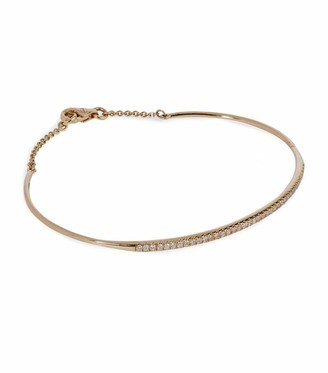 Djula Yellow Gold And Diamond Engagement Bracelet