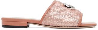 Gucci Pink Sequin GG Slides