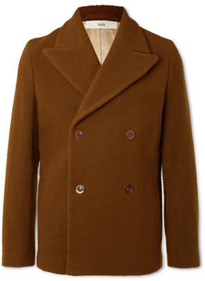Séfr Hamra Double-Breasted Brushed Virgin Wool-Blend Jacket