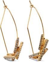 Elizabeth Cole Lori gold-tone crystal earrings
