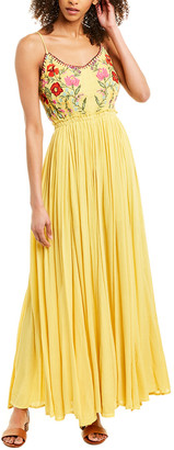 Raga Blooming Lotus Backless Maxi Dress