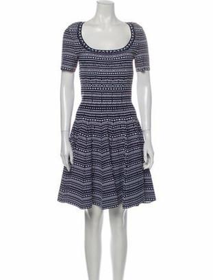 Alaia Striped Knee-Length Dress Blue