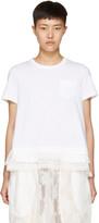 Sacai White Layered T-Shirt