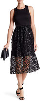 Nicole Miller Scuba & Sequin Lace Midi Dress