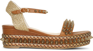 Christian Louboutin Cordorella 60 leather flatform sandals