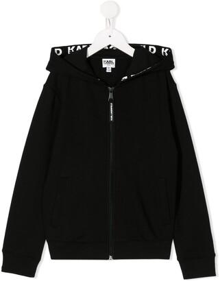 Karl Lagerfeld Paris Logo Branded Hoodie