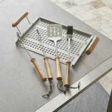 Crate & Barrel Schmidt Brothers ® 4-Piece Acacia Barbecue Tool Set