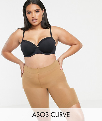 ASOS DESIGN Curve anti-chafing shorts 2 pack in Golden Bronze