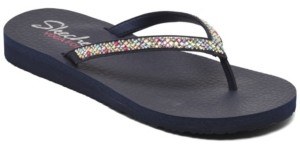 Skechers Women's Cali Meditation - Perfect 10 Flip-Flop Thong Sandals from Finish Line