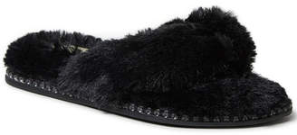 Dearfoams Women Fuzzy Thong Slipper, Online Only