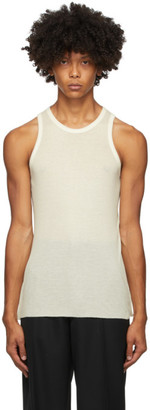 Haider Ackermann Off-White Cotton Cashmere Tank Top