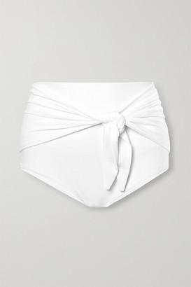 Norma Kamali Tie-front Bikini Briefs - White