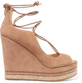 Sam Edelman Harriet Suede Espadrille Wedge Sandals - Tan