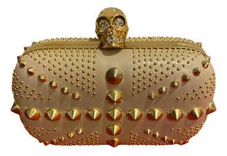 Alexander McQueen Skull Beige Leather Clutch bags