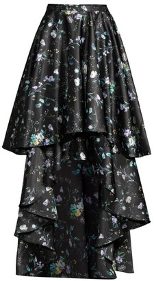 Flor Et. Al Amanda Floral Tiered High-Low Skirt