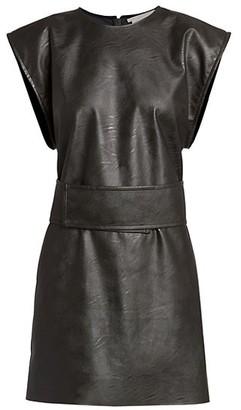 Stella McCartney Kimberly Vegan Leather Shift Dress