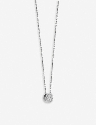 Monica Vinader Fiji Button sterling silver and pave diamond necklace