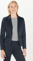 Esprit Fitted stretch satin blazer