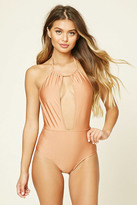 Forever 21 FOREVER 21+ Cutout Halter One Piece