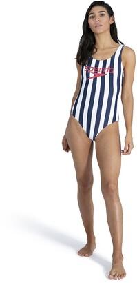 Speedo Heritage Ice Cream Striped Pool Swimsuit