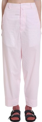 Maison Flaneur Pants In Rose-pink Cotton