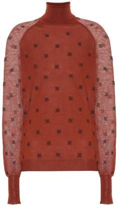 Fendi Wool, silk and cashmere sweater