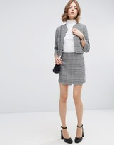 Asos Tweed Mini Skirt with Scallop Detail Co-ord