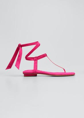 Alexandre Birman Clarita Summer Flat T-Strap Sandals
