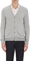 Zanone MEN'S V-NECK CARDIGAN-GREY SIZE S