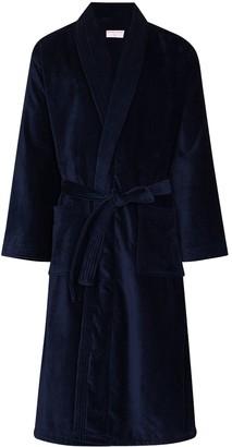 Derek Rose Triton velour towelling robe