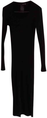 Isabel Benenato Black Wool Dress for Women
