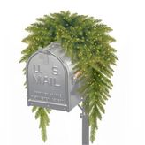 National Tree Company 30-Inch Kingswood Fir Mailbox Swag w/Battery-Operated InfinityTM Lights