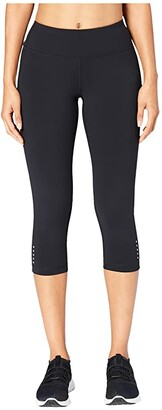 Core 10 Onstride Medium Waist Run Capri Leggings (Black) Women's Clothing