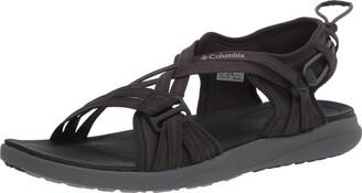 Columbia Women's Sandal Black (Shark Ti Titanium 011) 10 UK