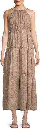 Nanette Lepore Nanette Printed Tiered Maxi Dress