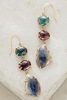 Lulu Sapphire and Tourmaline Memory Earrings in 14k gold