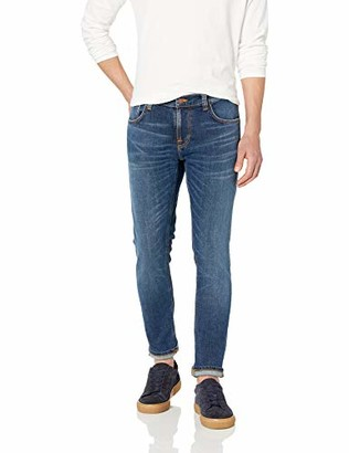 Nudie Jeans Men's Tight Terry Mid Blue Orange 28/36