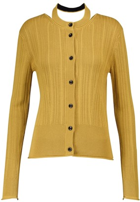 Proenza Schouler Ribbed-knit silk and cotton cardigan