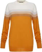 Jonathan Saunders Elliot Burnt Orange Merino Wool Stripe Sweater