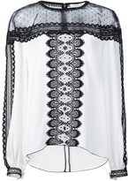 Andrew Gn lace panel blouse