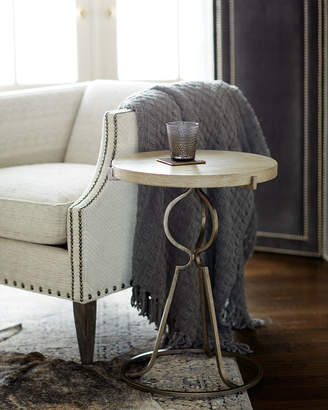Bernhardt Rustic Patina Iron-Base Round End Table