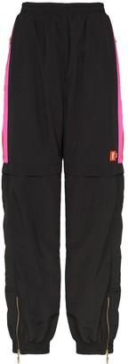 P.E Nation Saber side stripe track pants