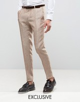 Heart & Dagger Skinny Suit Trouser In Linen