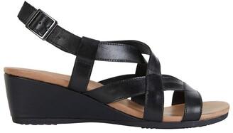 Wide Steps Miriam Black Glove Sandal