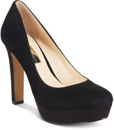 INC International Concepts Women's Anton Velvet Platform Pumps, Only at Macy's