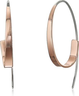 Skagen Women's Kariana Two-Tone Curl Earrings 40 mm